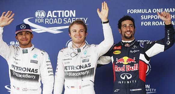 Sıralamalar Erken Bitti, Rosberg Pole'de
