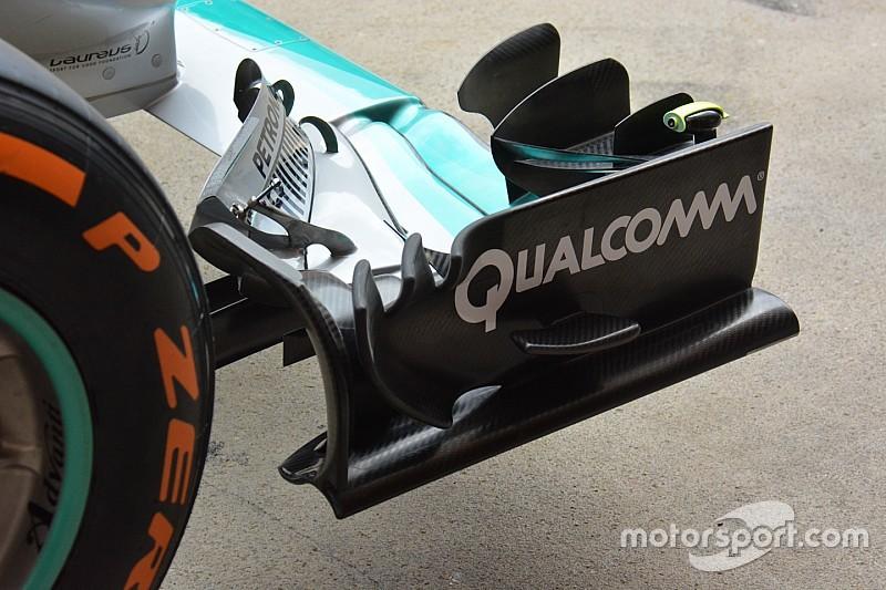 Breve análisis técnico: Alerón delantero del Mercedes W07