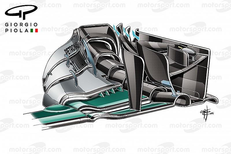 Tech analyse: Crash maskeerde potentieel van Mercedes updates