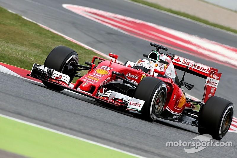 巴塞罗那测试首日:维特尔使用软胎圈速最快