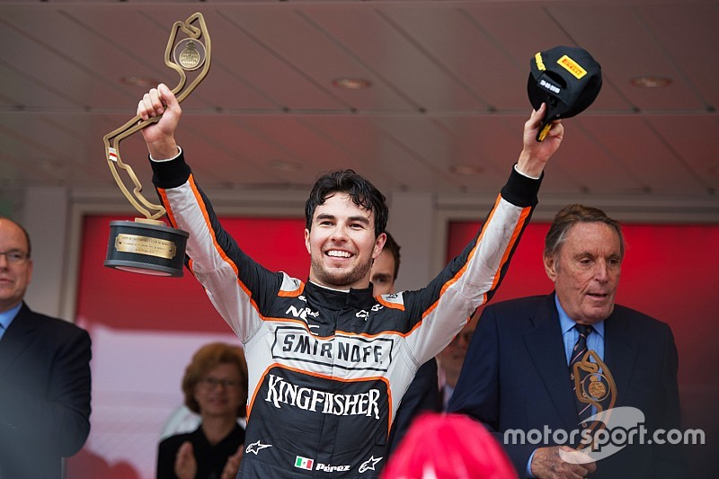 """Sergio Perez votato """"Driver of the Day"""" del GP di Monaco"""