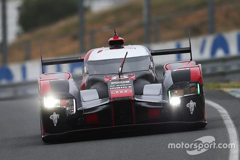 Testtag für die 24h Le Mans: Audi vor Porsche, und vorzeitiges Ende