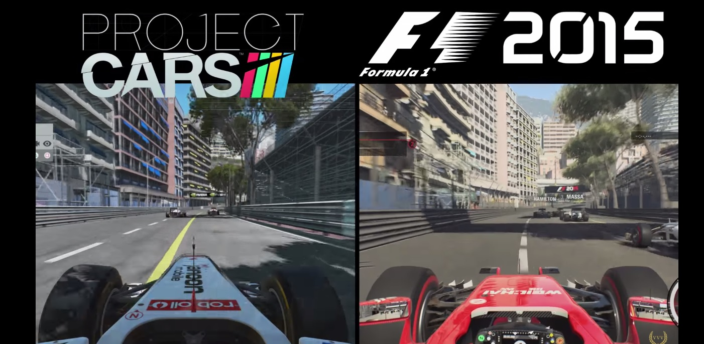 Project CARS Vs. F1 2015 Monacóban
