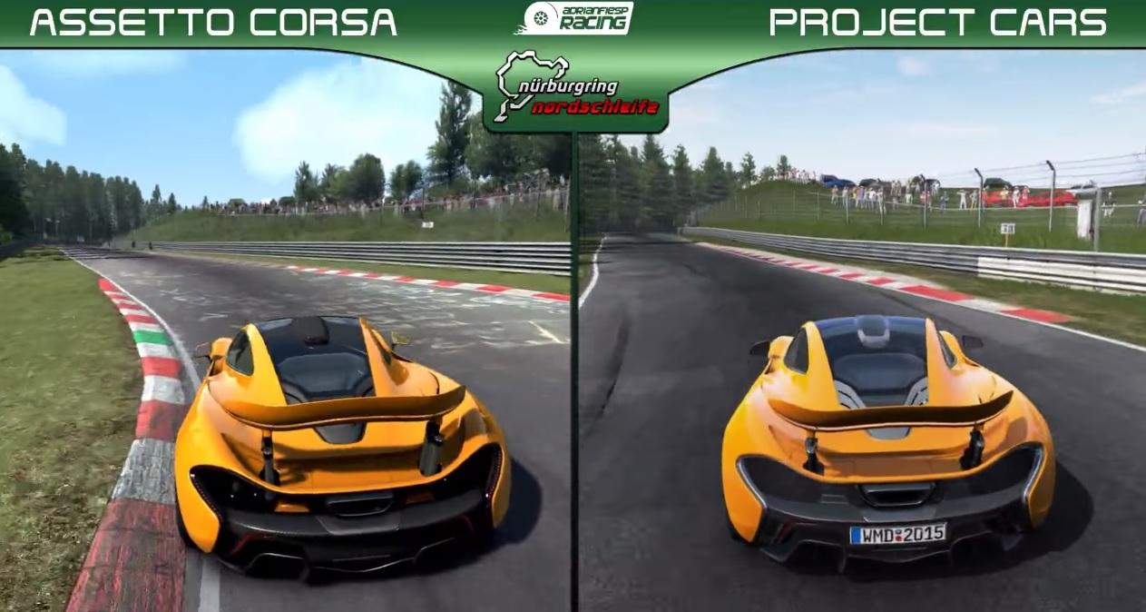 Project CARS az Assetto Corsa ellen: McLaren P1 – Nordschleife