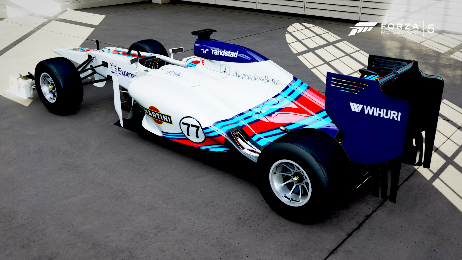 Forza Motorsport 5: Grafikán a Martini Williams F1 Team festése