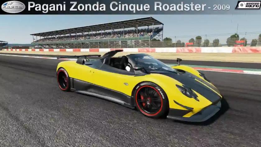 Project CARS: A csodálatos Pagani Zonda Cinque Roadster