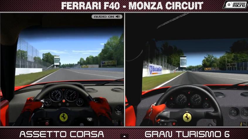 Gran Turismo 6 Vs. Assetto Corsa: Ferrari F40