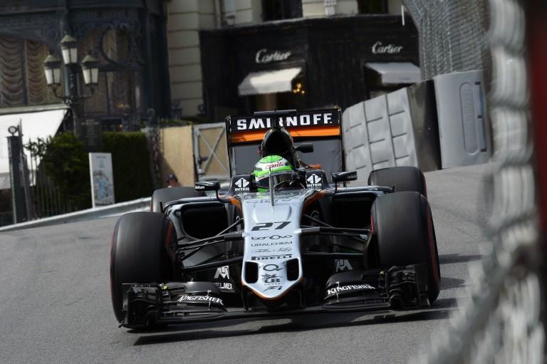 A Force India szárnyal Monte Carlóban: Hülkenberg 5. míg Perez 8.