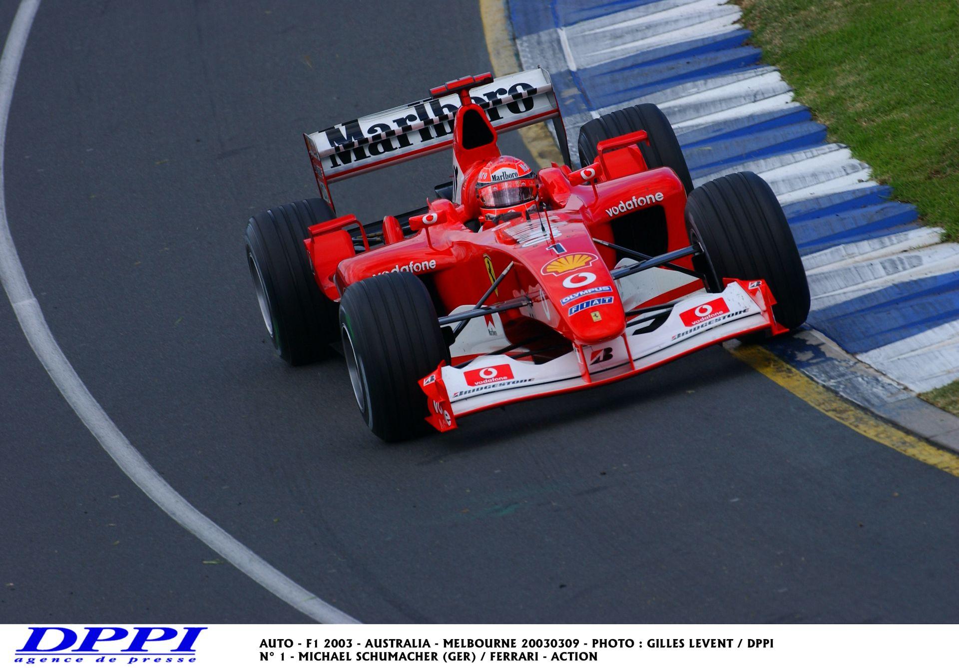 Schumacher 2003-as pole köre a Ferrarival az Ausztrál Nagydíjon