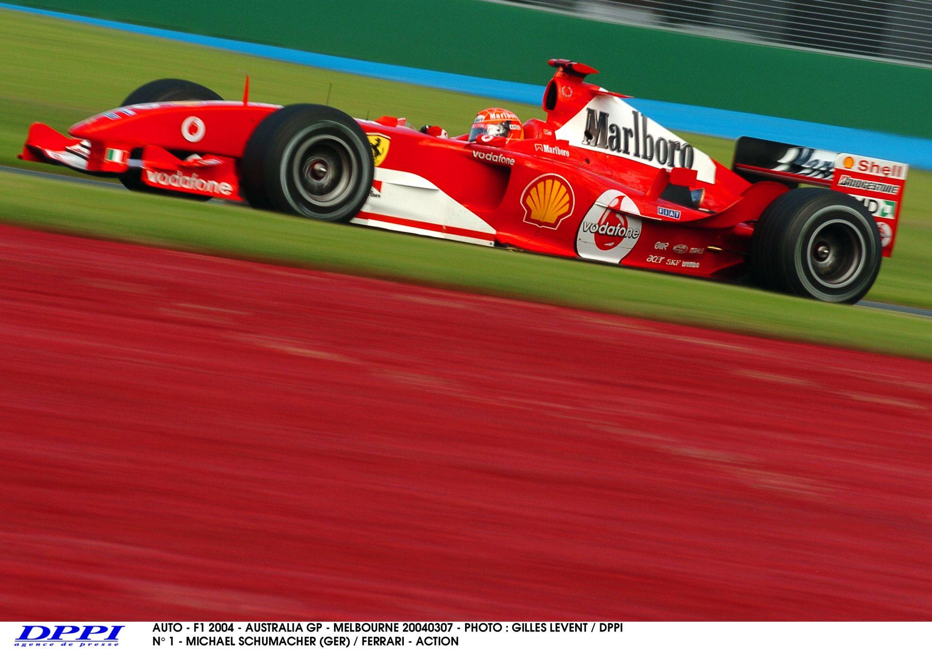 Schumacher pole köre a V10-es Ferrarival: Ausztrál Nagydíj, 2004