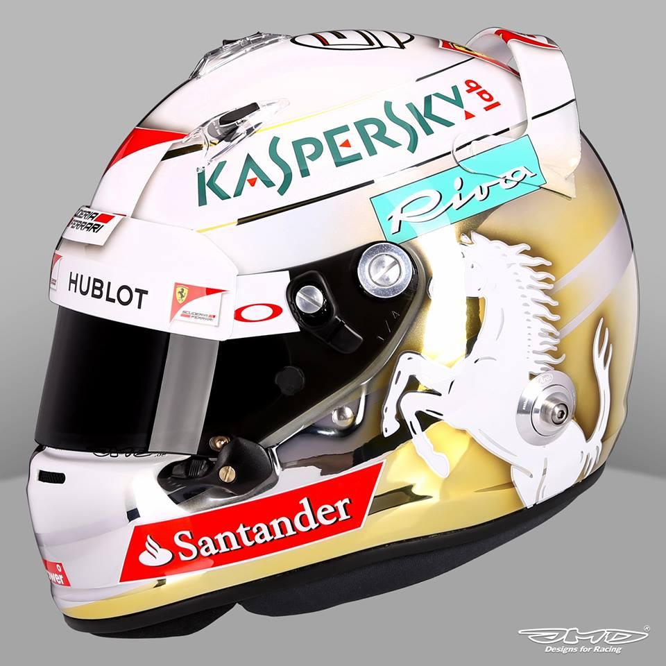 Vettel némi arannyal hintette le a sisakját az első futamra
