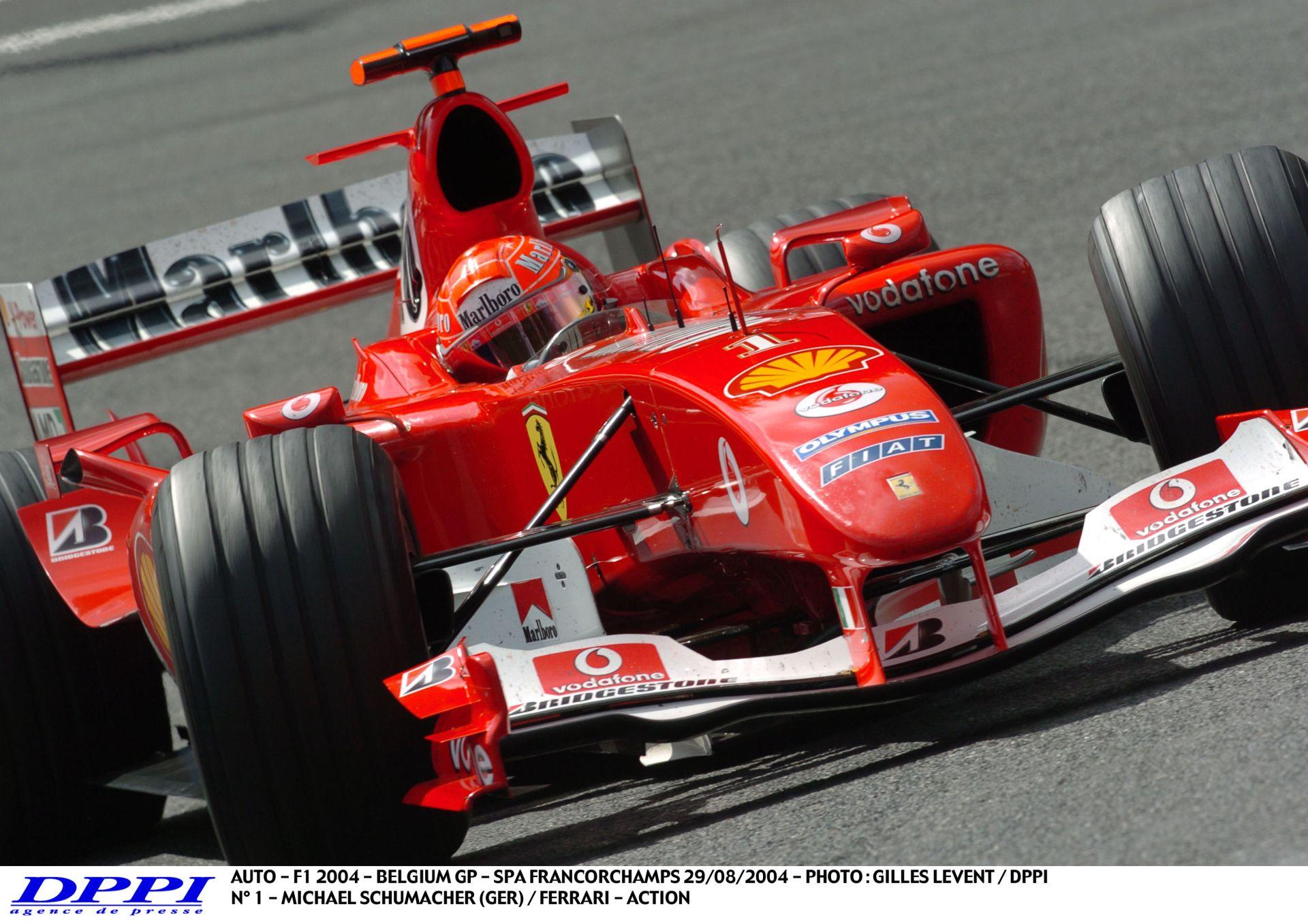 Schumacher V10-es száguldása a Ferrarival a 2004-es Belga Nagydíjon