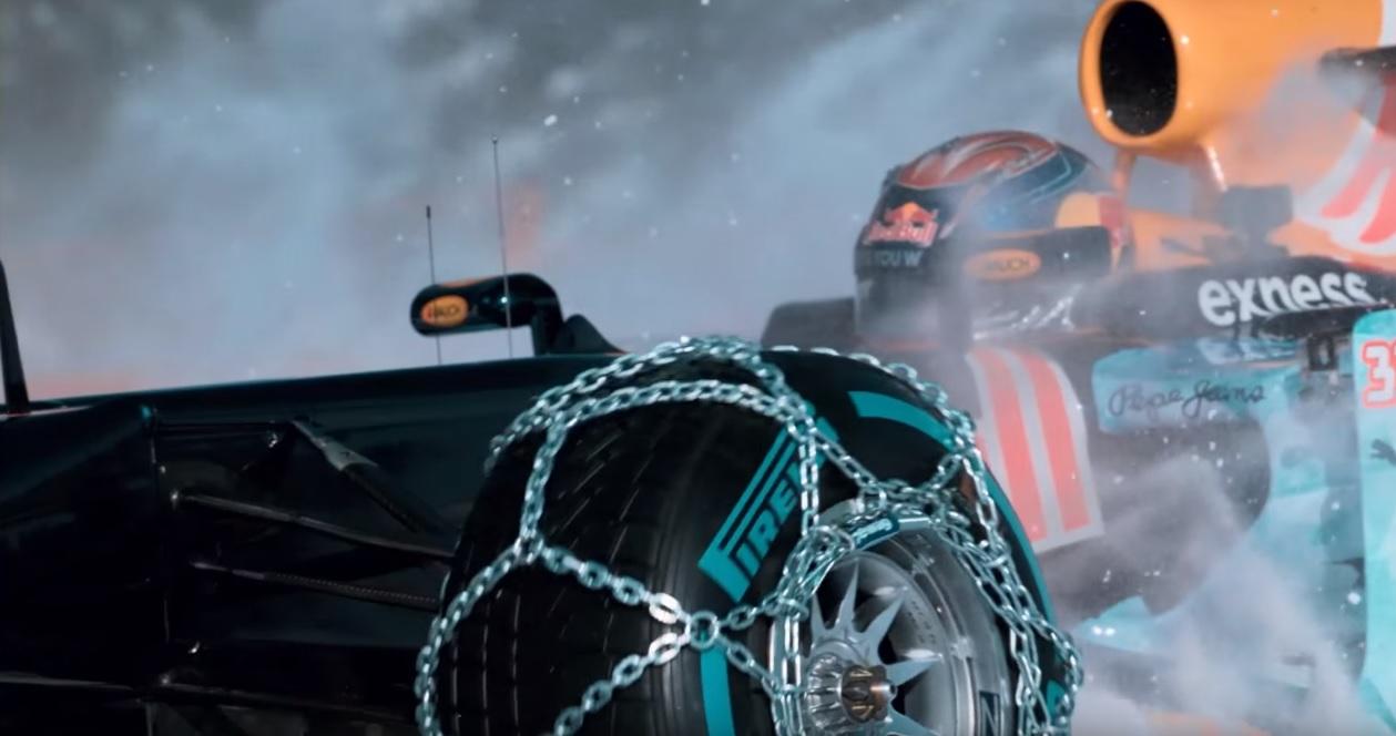 Egy hivatalos videó Verstappen havas F1-es csapatársáról: ÁLLAT!