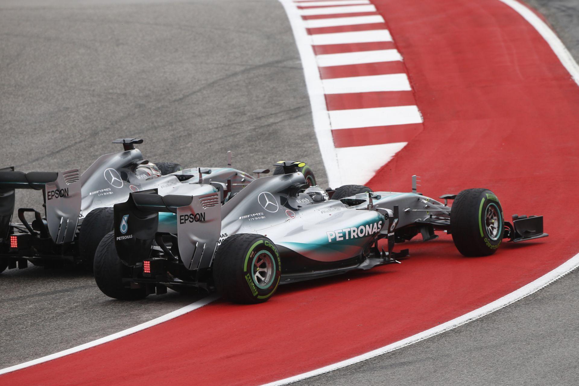 """Mercedes: Az Amerikai Nagydíj """"új fejezetet"""" nyithat Rosberg és Hamilton kapcsolatában!"""