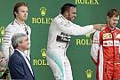 Videón a dobogós ceremónia: szegény Rosberg nagyon nem akart ott lenni