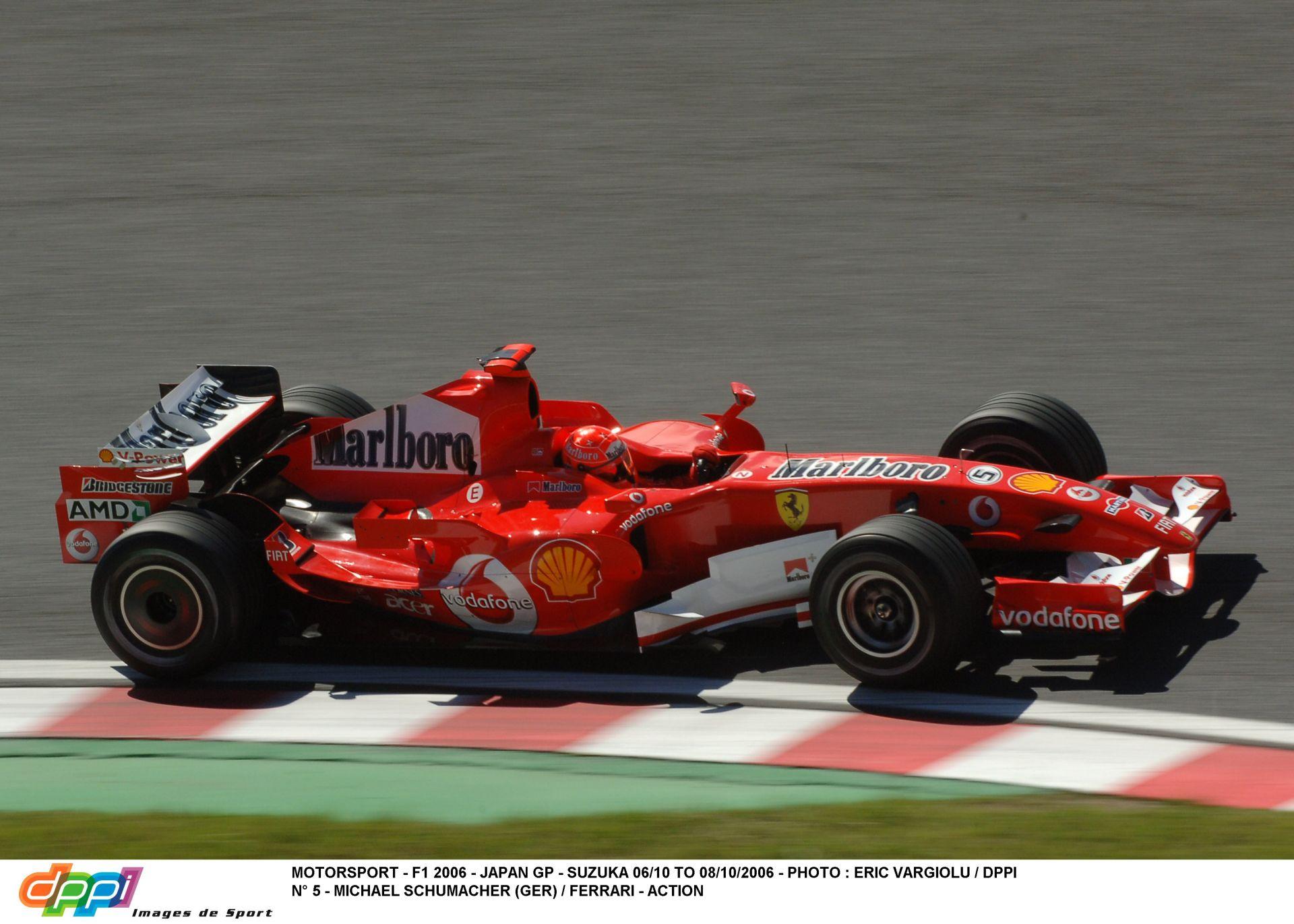Michael Schumacher nem éppen lassú köre a 2006-os Ferrarival Suzukában