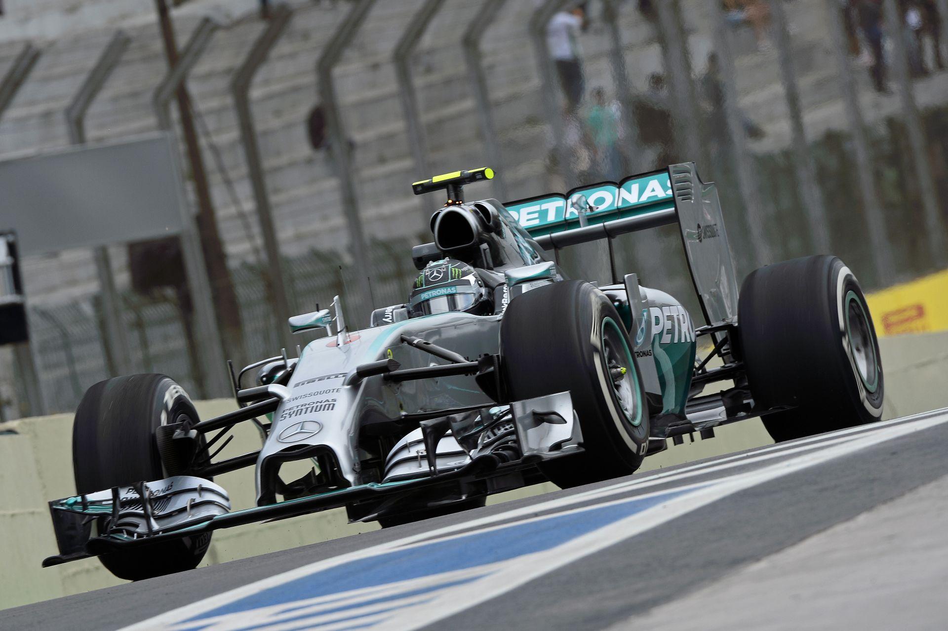 Rosberg Hamilton és Raikkönen előtt zárta az élen a második edzést Brazíliában! Alonso Ferrarija kigyulladt, de csúnyán!
