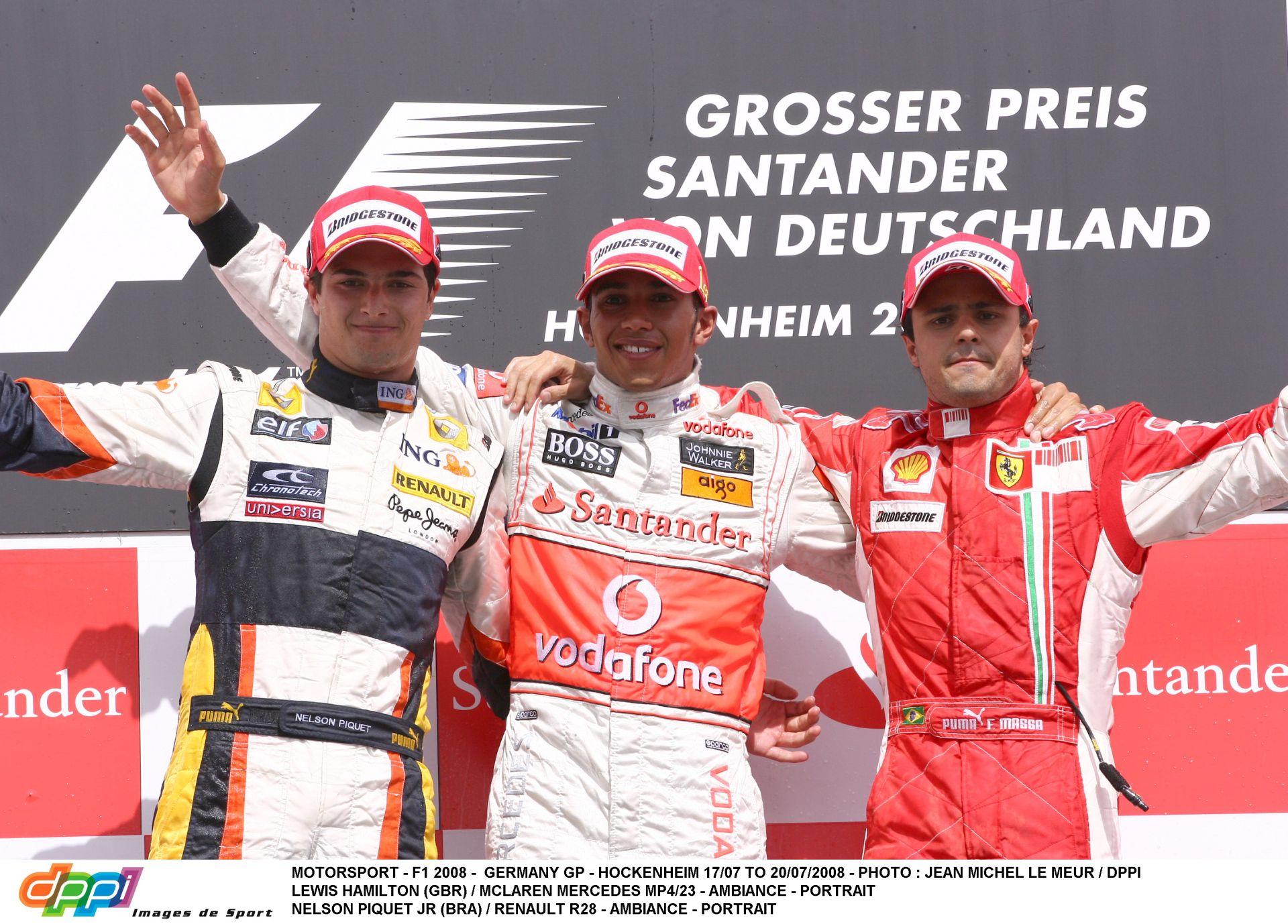 Ezen a napon a Forma-1-ben: Hamilton győzelme a McLarennel Piquet és Massa előtt