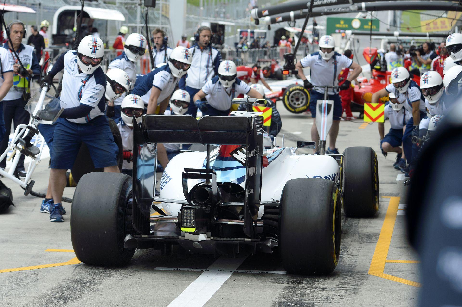 Így gyakorolja a Williams a kerékcseréket: Pokoli gyorsak a srácok!
