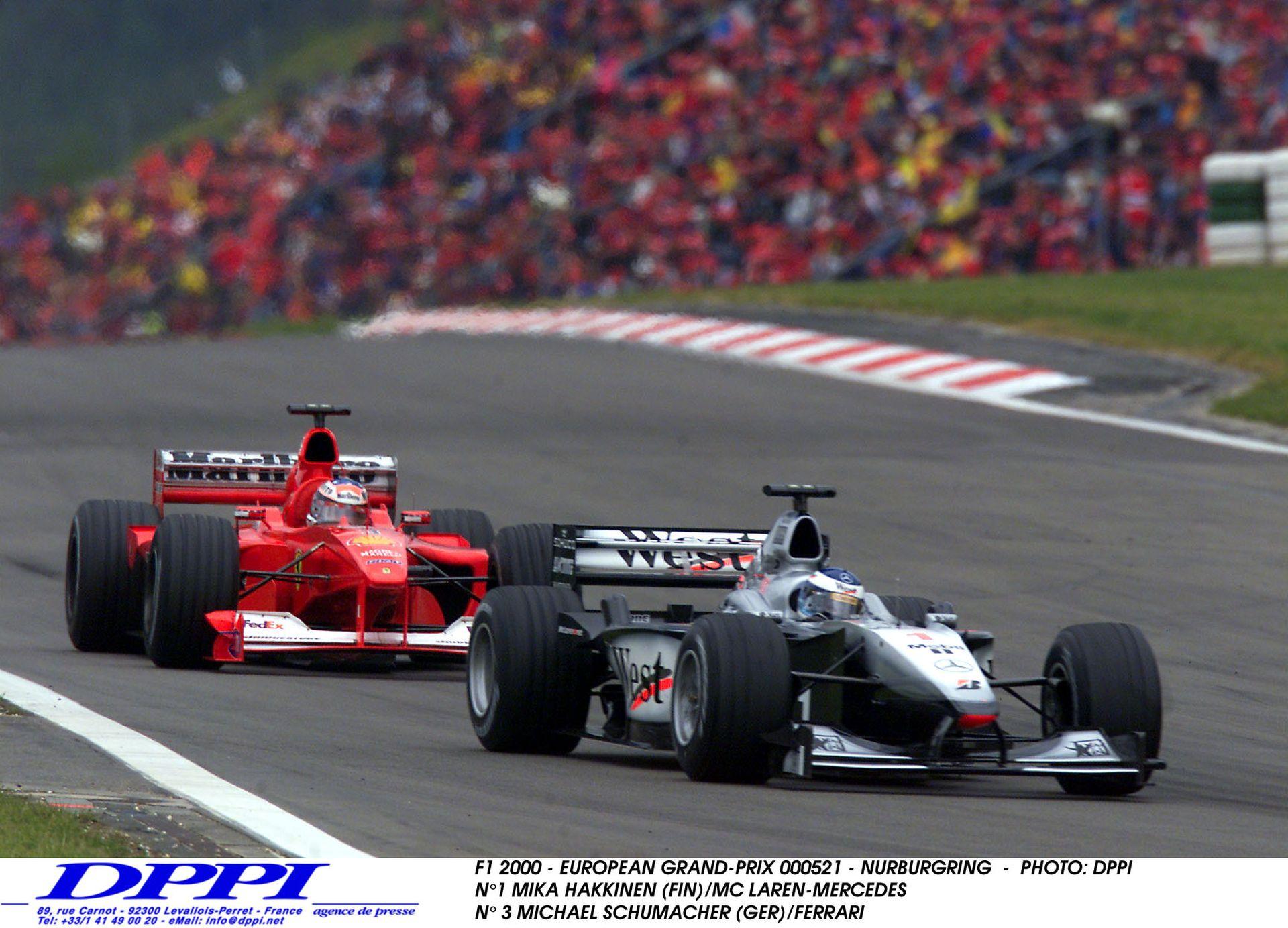 Hakkinen és Schumacher legendás csatája Spa-ban: A legdurvább előzés a Forma-1-ben
