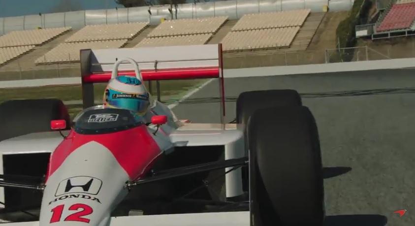 Felejthetetlen nap Alonso számára: elsőre majdnem megpördült a McLaren MP4/4-gyel
