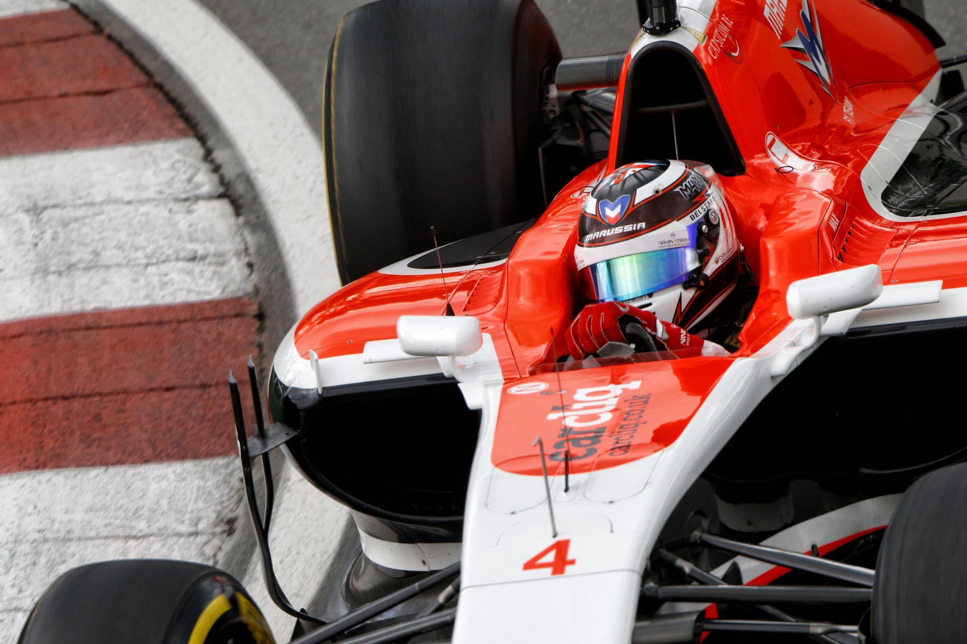Videón Bianchi nagy balesete Kanadából: Mindkét Marussia kiesett