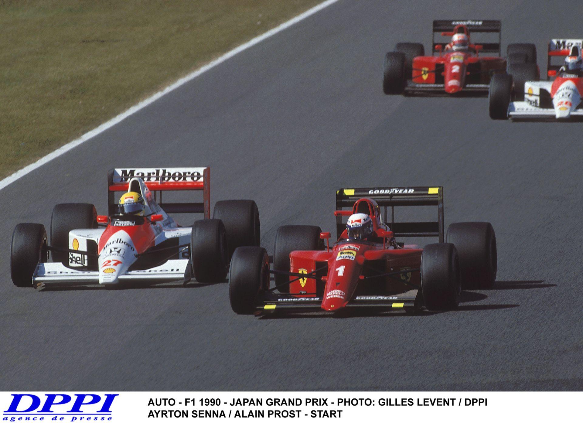 Ayrton Senna és Alain Prost újabb legendás ütközése – 1990, Japán