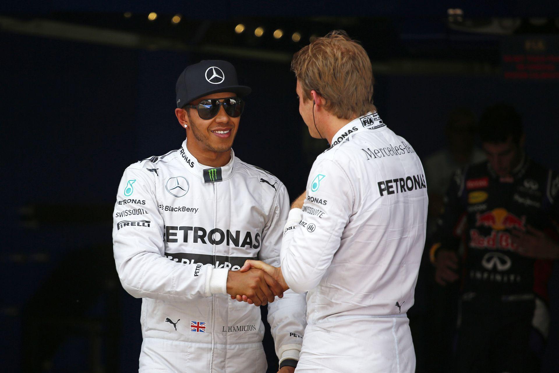 Rosberg még mindig nem szeret Hamilton mögött végezni: TOP3 szombaton