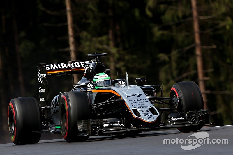 Force India hoopt dat Button Hülkenberg een helpende hand biedt