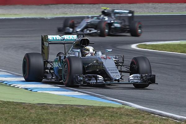 F1 ハミルトン「2周目か3周目からエンジンを労って」ドイツGPを勝利