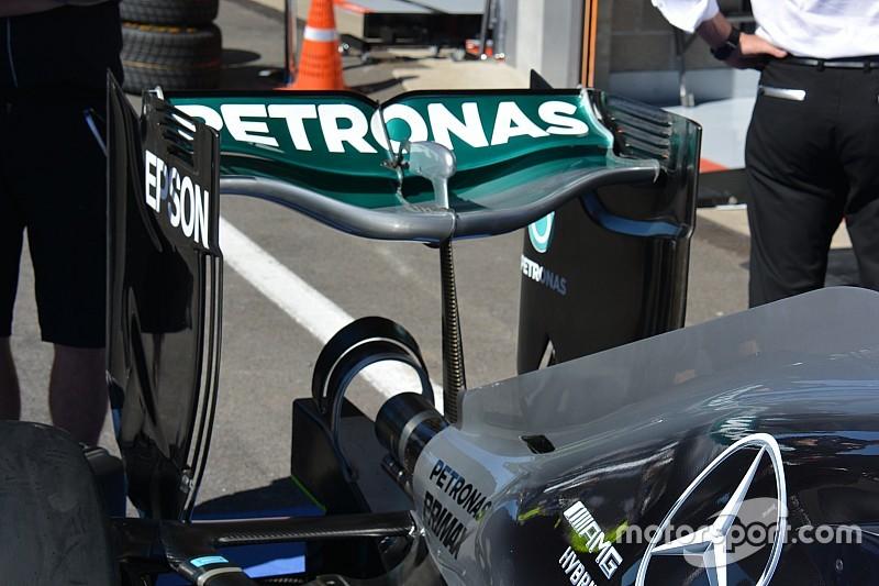 Tech update: De 'Spoon' achtervleugel van Mercedes terug op Spa