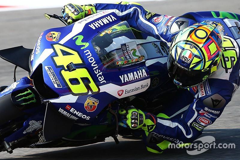 Rossi topt eerste training op Misano, Marquez onderuit