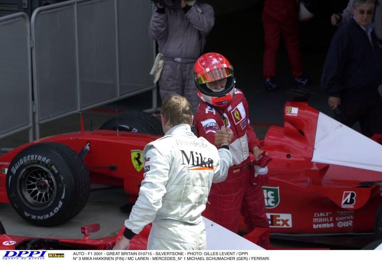 A valaha készült egyik legjobb felvétel Schumacherről és Hakkinenről