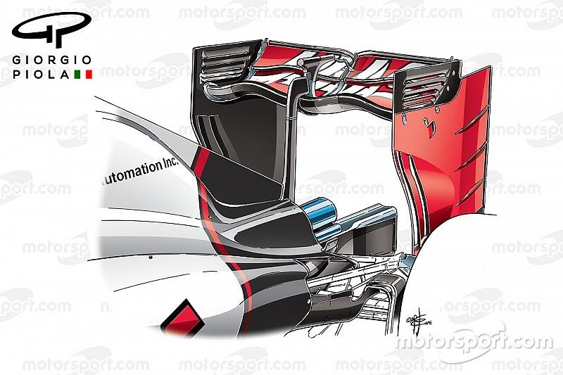تحليل تقني: كيف تقلّل سيارات الفورمولا واحد عامل الجرّ من خلال الأجنحة المتموّجة