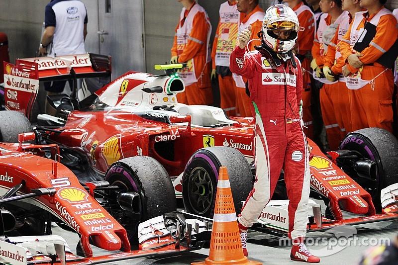 Sebastian Vettel votato Driver of the Day del GP di Singapore