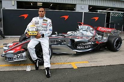 Los primeros test de Hamilton en Fórmula 1