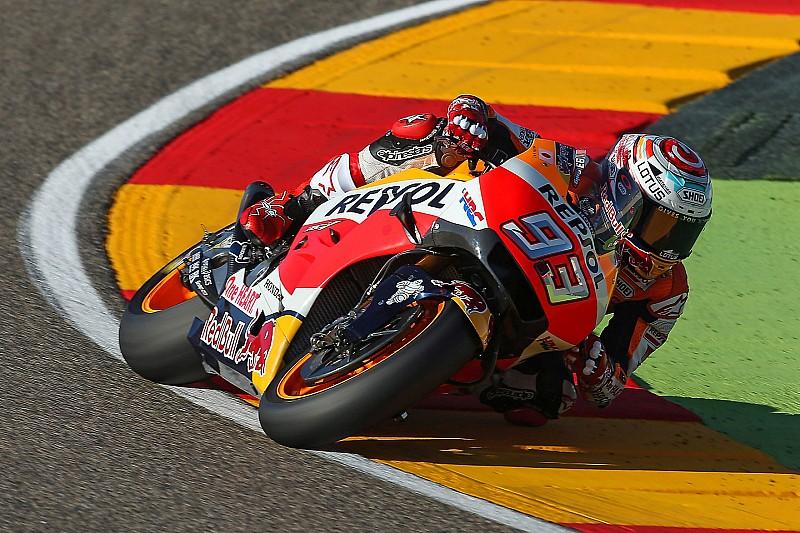 Aragon, Warm-Up: Marquez si conferma, Lorenzo scivola subito