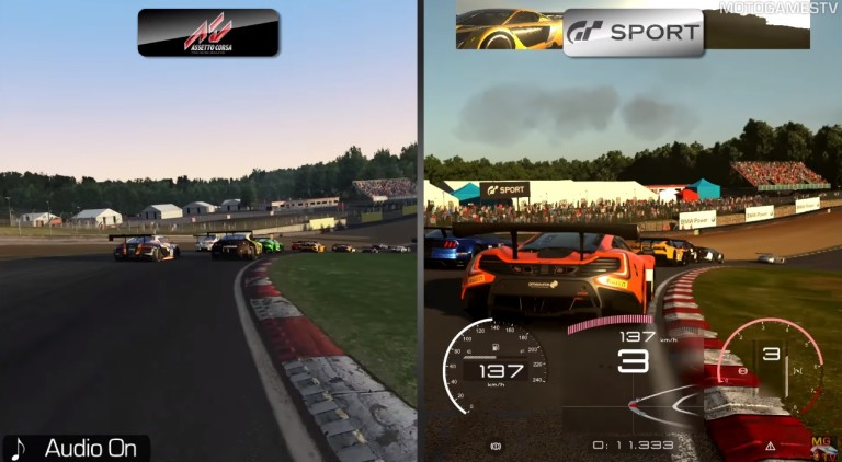 Assetto Corsa a Gran Turismo Sport ellen: gigászok csatája?