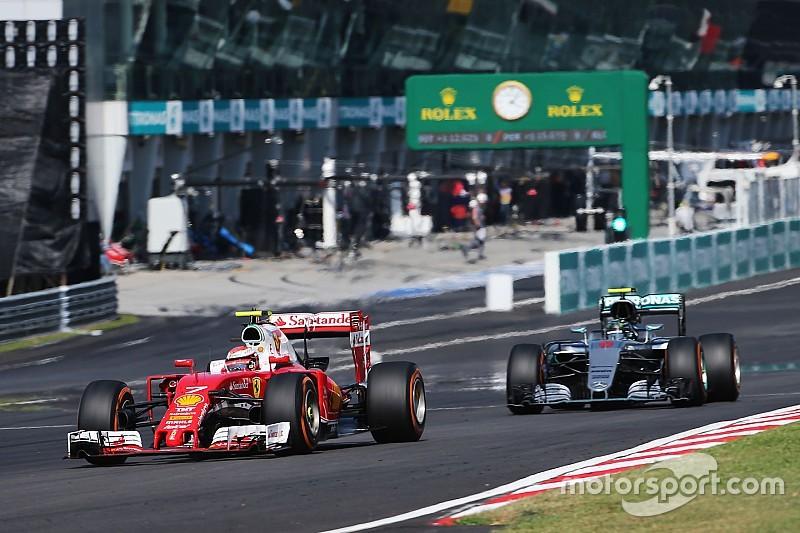 Raikkonen voleva usare il bottone magico per lottare con Rosberg!