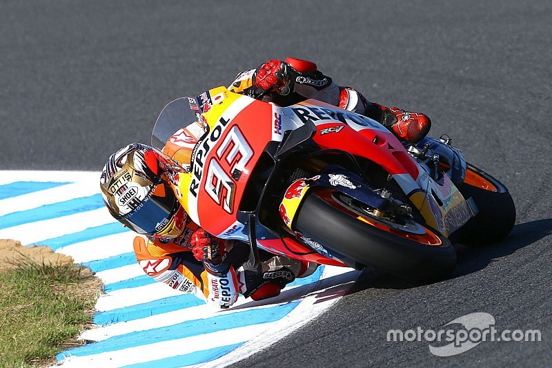 Marquez voor Dovizioso en Viñales in warm-up GP Japan