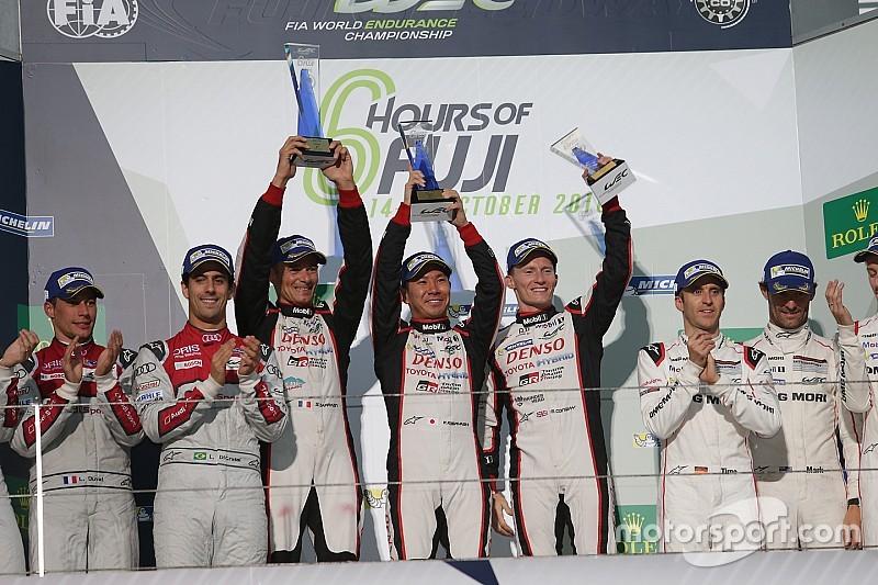 """Riesenjubel bei Toyota nach Sieg beim """"sechsstündigen Sprintrennen"""" in Fuji"""