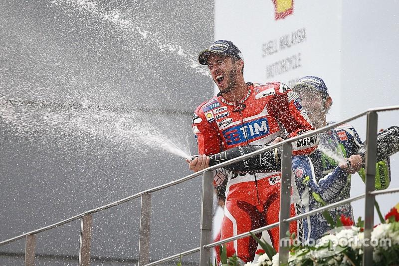 """Dovizioso: """"Es cierto que fue en mojado, pero freí a mis rivales"""""""
