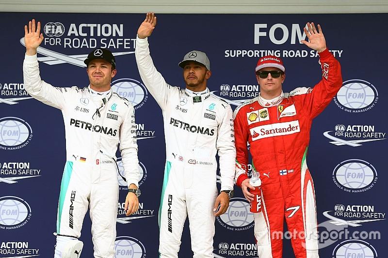 Hamilton verslaat Rosberg in strijd om pole, Verstappen start als vierde in Brazilië