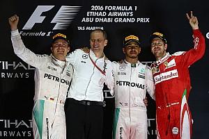 F1 比赛报告 F1阿布扎比正赛:汉密尔顿竭尽全力,罗斯伯格圆梦总冠军
