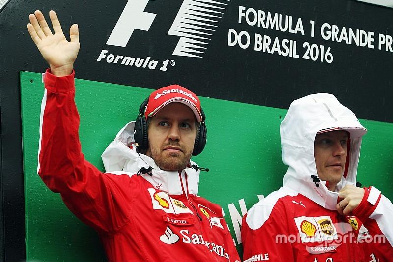 """""""Szombaton Kimi lett az időmérő sztárja, miután Vettelt jól """"gatyába rázta""""."""