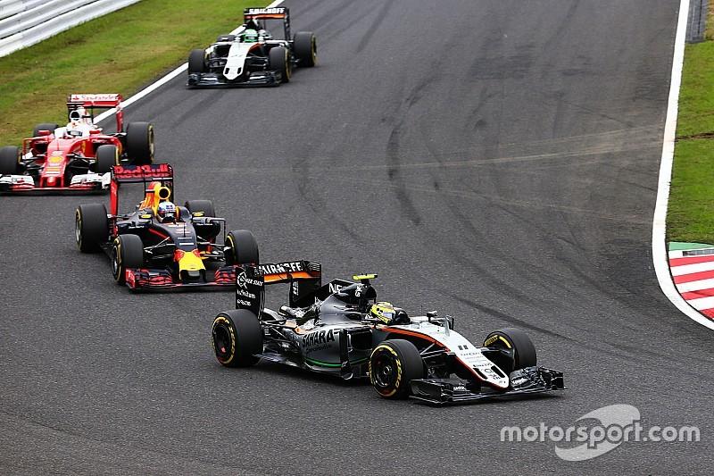 """Perez: """"Force India kan vechten voor plaats in top-drie"""""""