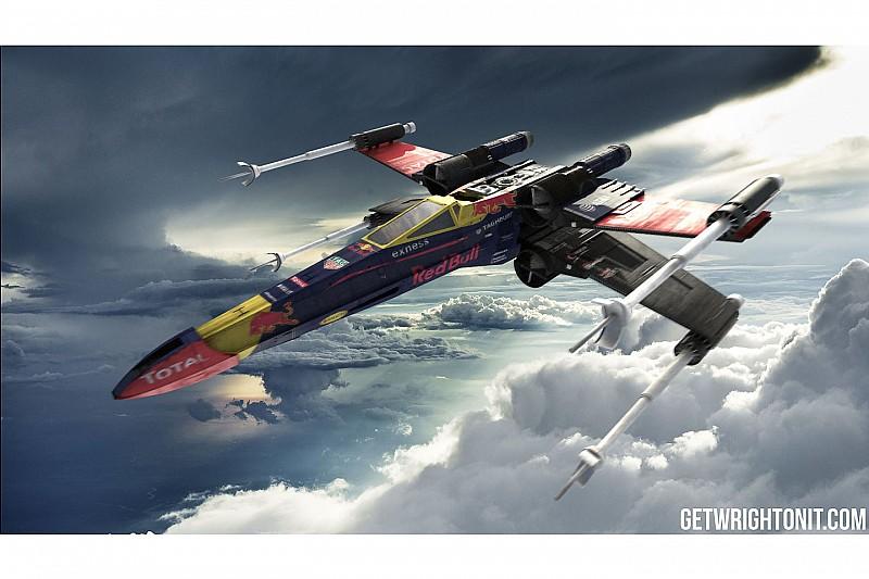 In beeld: De X-Wing uit Star Wars in Formule 1-kleuren