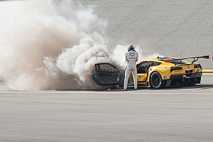 IMSA Actualités Énorme incendie sur la Corvette de Fässler à Daytona
