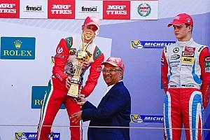 Indian Open Wheel Jelentés a versenyről Schumacher fia rajt-cél győzelmet szerzett az indiai F1-es pályán