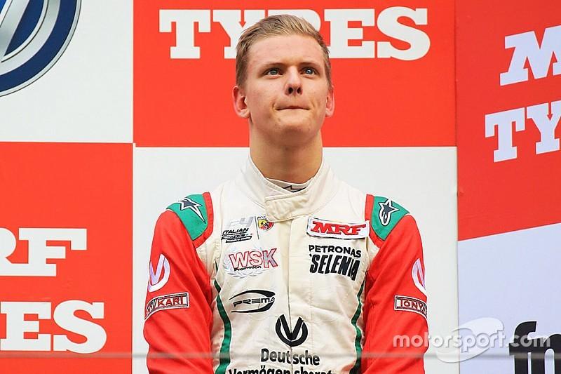 MRF Challenge Buddh: Schumacher kembali dominan di Race 3